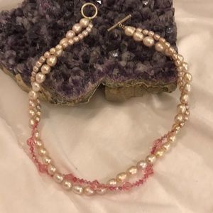 Stunning Double-strand Baroque Pearl Necklace
